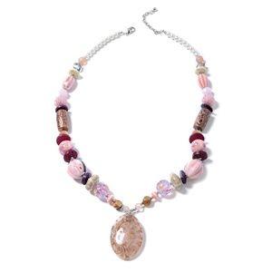 Pink Murano Millefiori Glass, Ceramic, Necklaces